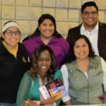 Immaculée with Diana Loza, Erica and Jose Rivas and Sandra Loza